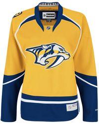 Reebok Nhl Women's Nashville Predators Premier Team Jersey - 7214w5pcwrnpr (yellow, Xx-large)