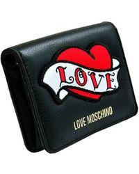 Love Moschino PORTAFOGLIO NERO 11X10X3 CM - U-SI-8054388970815