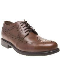 Rockport Essential Detail Ii Wing Tip Shoes Tan 9 Uk - Brown