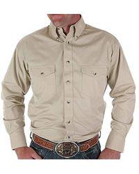 Wrangler - Painted Desert Two Pocket Long Sleeve Button Shirt - Lyst