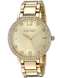 Ellen Tracy - Quartz Metal And Alloy Watch, Color:gold-toned (model: Et5217gdbl) - Lyst