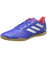 adidas Predator 19.4 in Sala, Chaussures de Football Homme - Bleu