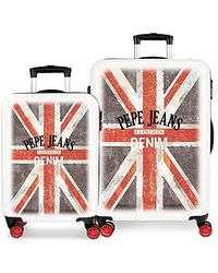 Pepe Jeans World Hand Luggage 55 Centimeters 34 Multicolour (multicolor) - Red