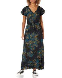 Goodthreads Georgette Ruffle-Sleeve Maxi Dress Dresses - Nero