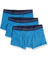 Goodthreads 3-Pack Lightweight Performance Knit Trunk Trunks-Underwear - Azul