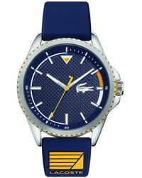 Lacoste Analogue Quartz Watch With Rubber Strap 2011027 - Blue