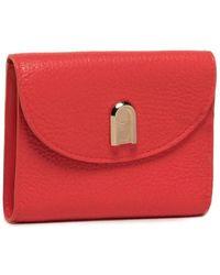 Furla Portafoglio Sleek Bi-Fold Fuoco h - Rosso