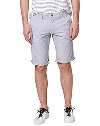 Esprit 058ee2c012, Pantalones Cortos Hombre, Blanco (White 100), W33 (Talla del Fabricante: 33)