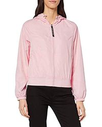Calvin Klein Hooded Zip Through with Seaming Giacca Donna - Rosa