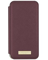 Kate Spade - Folio Case For Iphone 8 & Iphone 7 - Mahogany - Lyst