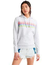 Superdry SB Rainbow Panel Entry Hood Ub Sweat-Shirt À Capuche - Blanc