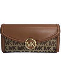 Michael Kors Fulton Large Flap Continental Wallet - Marrone