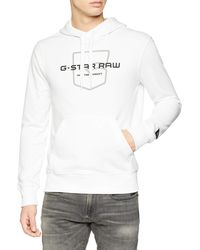 G-Star RAW Graphic 33 Core Hooded Sweat sudadera - Blanco