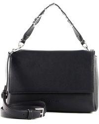 Calvin Klein Flap Shoulder Bag Black - Schwarz