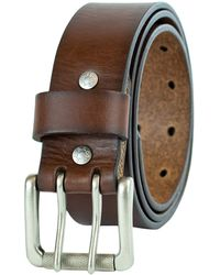 Levi's - 1 1/2 in.Bridle Double Prong Buckle Belt,Brown,44 - Lyst