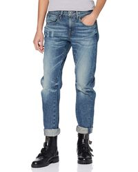 G-Star RAW Arc 3d Low Boyfriend Jeans In Tobe Denim - Blue