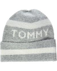 Tommy Hilfiger Soft Stripes Beanie Bonnet - Gris