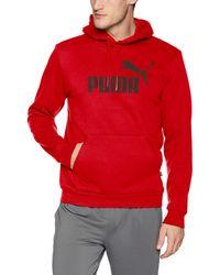 PUMA Essential Hoodie Fleece Big Logo Sweatshirt - Rosso