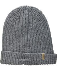 GANT O1. Rib Knit Hat Porkpie - Grey