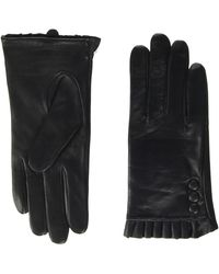 Dorothy Perkins Button Frill Leather Glove - Black
