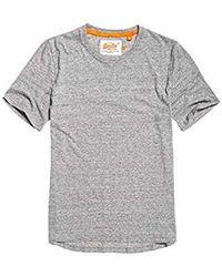 Superdry Label Lite Longline tee, Camiseta para Hombre - Gris