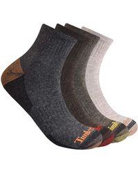 Timberland - 4-pack Half Cushioned Quarter Socks - Lyst