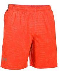 Under Armour Woven Graphic Short ultraleichte und atmungsaktive Sporthose, robuste Sportshorts mit loser Passform - Rot