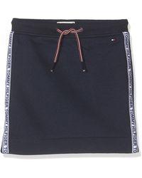 Tommy Hilfiger Essential Tommy Tape Knit Skirt Falda - Azul