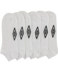 Umbro Pack Of 6 Women's Short Socks - White