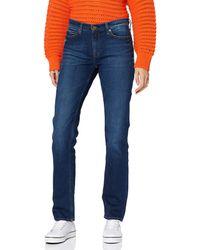 Tommy Hilfiger Jeans Straight TJ 1985 Mid Rise Pantalon Femmes Stretch Puff Dark Blue