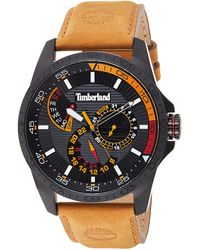 Timberland S Multi Dial Quartz Watch With Leather Strap Tbl15641jsb.02 - Black