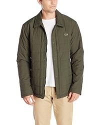 Lacoste Quilted Car Coat, Bh9478-51 - Green