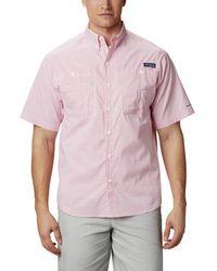 Columbia PFG Super Tamiami Kurzarm Shirt - Rot
