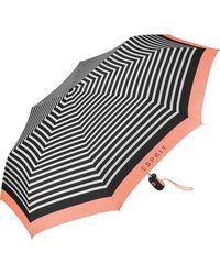 Esprit Easymatic Light E_Motional Stripes Parasol de Poche Multicolore Corail 97 cm