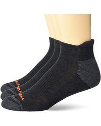 Merrell Repreve Cushioned Hiker Low Cut Tab Socks 3 Pair - Black