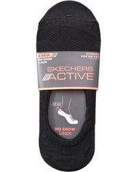 Skechers No Show Liner Socks 8 Pairs Black White Grey - Gray
