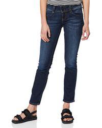 Pepe Jeans Gen, Vaqueros Rectos para Mujer, Azul
