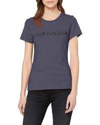 Calvin Klein Institutional Logo Slim Fit Tee T-Shirt - Grigio