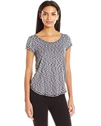 CALVIN KLEIN 205W39NYC - Performance 2-color Spacedye Open Strappy Back Shortsleeve Tee - Lyst