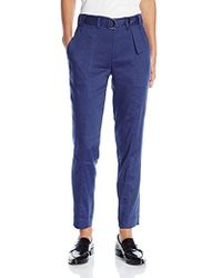 Vince - Linen Belted Trouser - Lyst