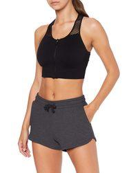 AURIQUE Amazon Brand - Women's Gym Shorts, Gray (charcoal Marl), 16, Label:xl - Multicolor