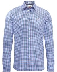 Tommy Hilfiger TJM Essential Multi Check Shirt blau - M