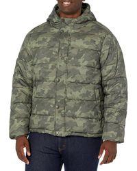 Amazon Essentials Heavy-Weight Hooded Puffer Coat Dress-Coats - Verde