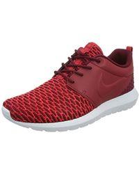 Nike Roshe Nm Flyknit Prm Running Shoes - Red