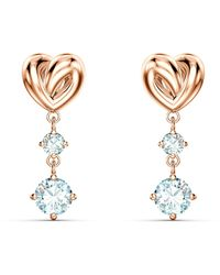 Swarovski Lifelong Heart Pierced Earrings - White
