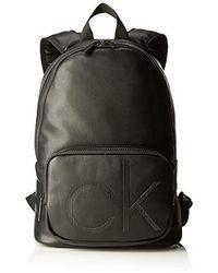 Calvin Klein Ck Up Round Backpack - Shoppers y bolsos de hombro Hombre - Negro
