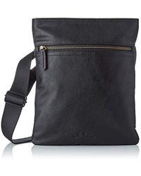 Levi's - Flat Crossbody Vegan, 's Shoulder Bag, Black (noir Regular Black), 1x23x27,5 Cm (w X H L) - Lyst