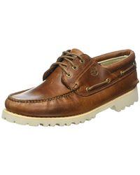 d5af1739aac Chilmark 3 Eye Handsewn Boat Shoes - Brown