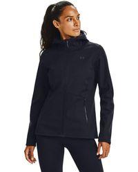 Under Armour Coldgear Infrared Shield Hooded Full-zip Parka Jacket - Blue