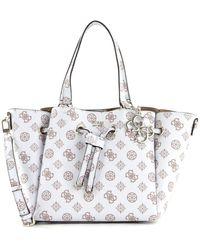 Guess Digital Drawstring Bag White - Bianco